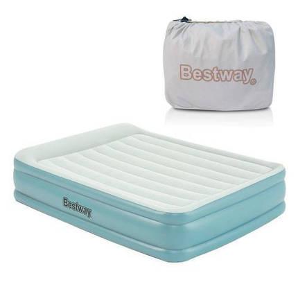 Надувная кровать Bestway 67708 со встроенным электрическим насосом 203*152*46 см, фото 2