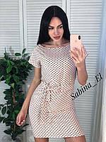 Платье летнее легкое прямого силуэта под пояс, много расцветок