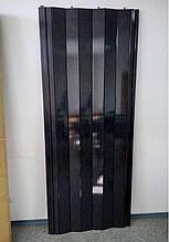 Двері гармошка глуха чорне дерево міжкімнатні пластикова 810*2030*6мм