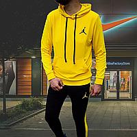 Костюм спортивный мужской в стиле Nike Jordan желтого и красного цвета m, Красный