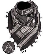 Арафатка-шемаг Mil-tec М16 черно-белая110*110см 100% хлопок