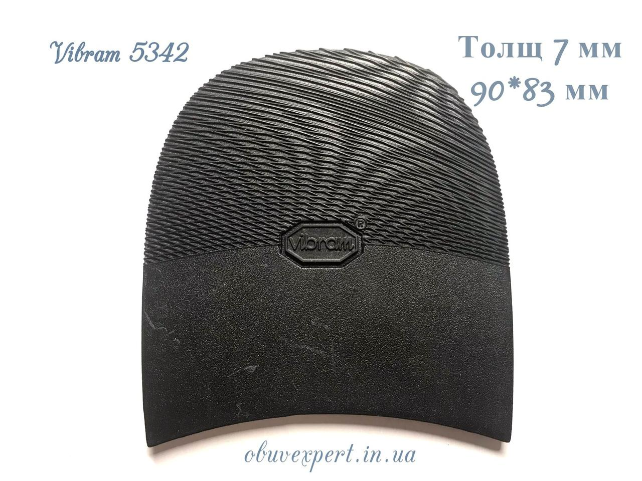 Набойка Vibram 5342 ARIEL TACCO р. 10, тощ. 7 мм, цв. черный