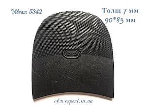 Набойка Vibram 5342 ARIEL TACCO р. 10, тощ. 7 мм, цв. черный, фото 2