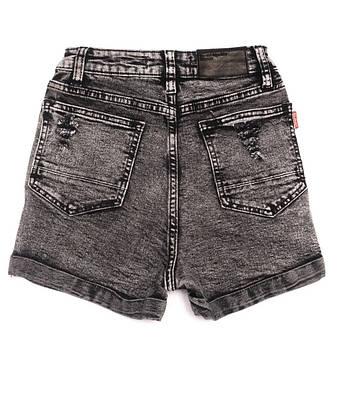 Женские джинсовые шорты рваные стрейчевые черные, фото 2