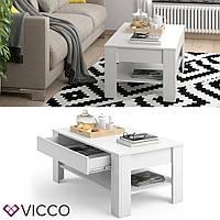 Vicco журнальный столик с выдвижным ящиком Milan, 110х65 см, цвет белый