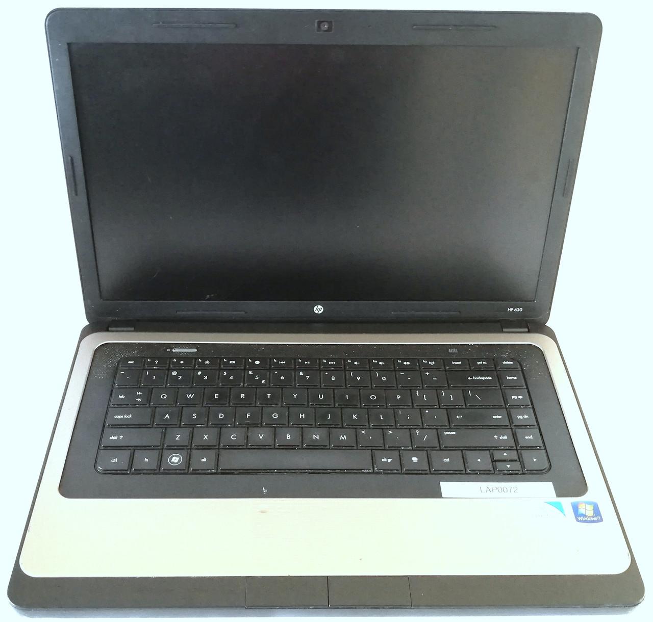 "Ноутбук HP 630 15.6"" 3 х USB 2.0, VGA, LAN (RJ-45), HDMI, Card Reader Б/У На запчасти"