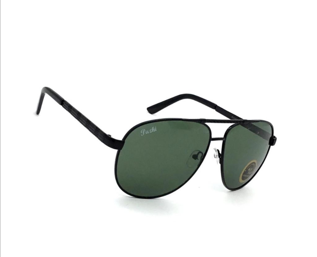 Солнцезащитные мужские очки со стеклянной линзой.