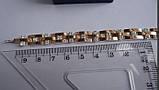 """Браслет """"Лав"""" серебряный с золотыми накладками женский, длина 17,5 - 18 см (8 звеньев), фото 6"""