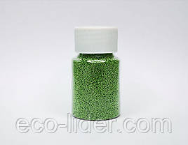 Зелені бульонки для слаймов і декору нігтів
