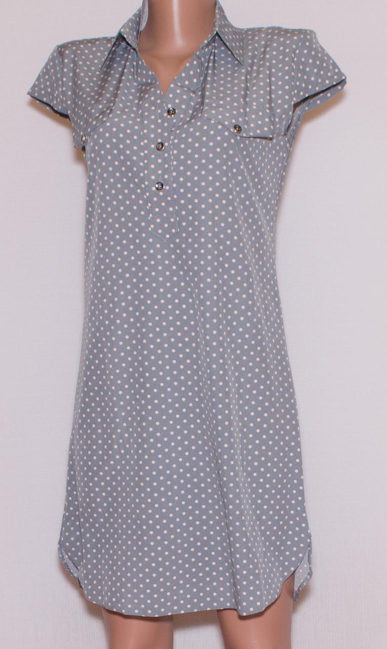 Літнє плаття сорочка короткий рукав (44)