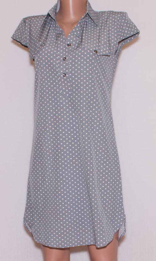 Літнє плаття сорочка короткий рукав (44), фото 2