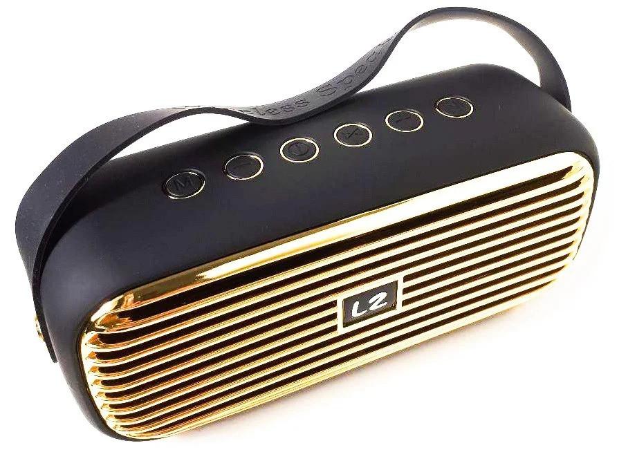 Портативная Bluetooth колонка SPS charge E25, золотая