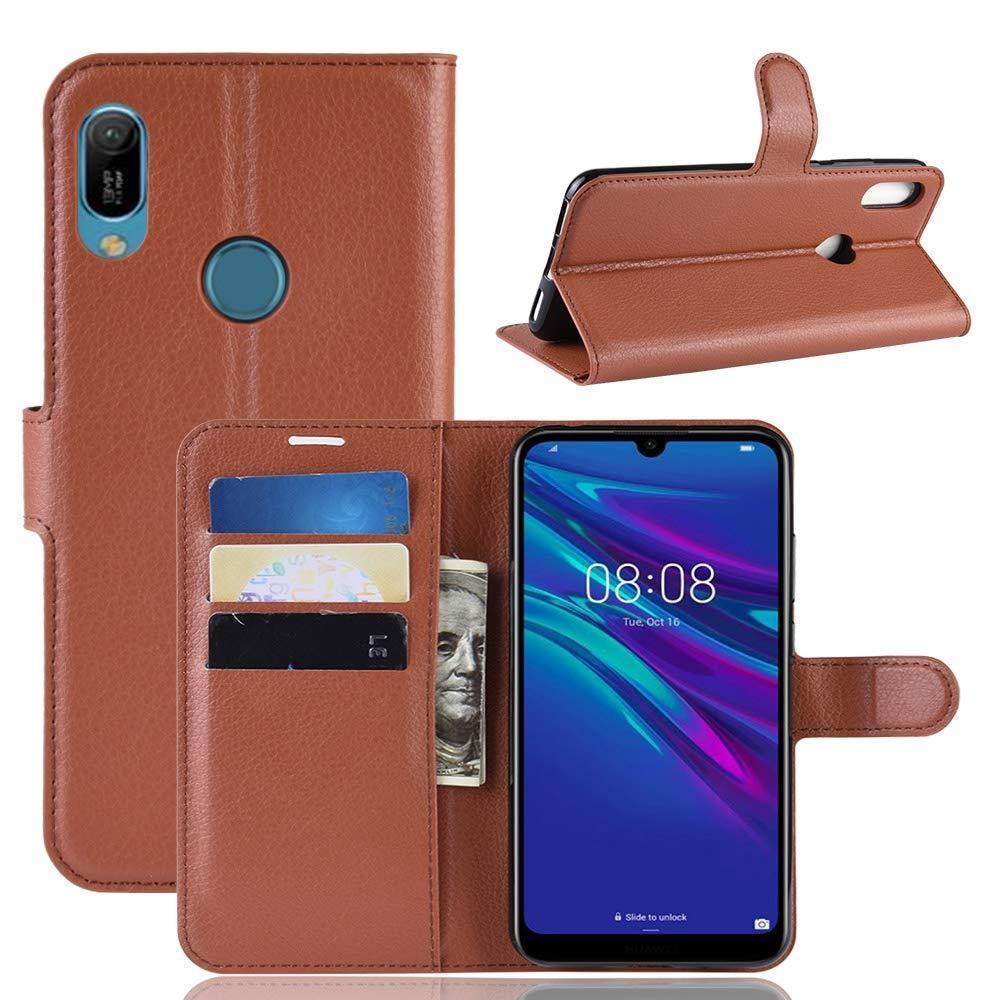Чехол Luxury для Huawei Y6 2019 / Y6 Pro 2019 книжка коричневый