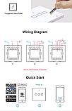 Sonoff Touch T0 3gang (3 кнопки)Wi-fi трехканальный сенсорный умный выключатель, фото 2