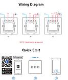 Sonoff Touch T0 3gang (3 кнопки)Wi-fi трехканальный сенсорный умный выключатель, фото 3