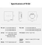 Sonoff Touch T0 3gang (3 кнопки)Wi-fi трехканальный сенсорный умный выключатель, фото 6