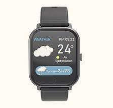 Умные часы Lemfo T55 c цветным дисплеем и тонометром (Черный), фото 2