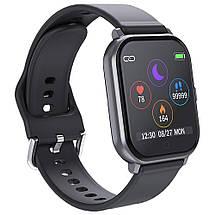 Умные часы Lemfo T55 c цветным дисплеем и тонометром (Черный), фото 3