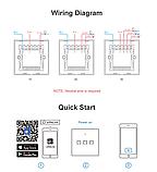 Sonoff Touch T0 3gang (3 кнопки)Wi-fi трехканальный сенсорный умный выключатель, фото 10