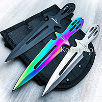 Ножи метательные F 027 комплект из трех цветов 3 в 1