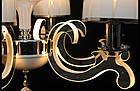 Современная классическая люстра на 6 лампочек СветМира с LED подсветкой рожков  LS-9427/6, фото 4