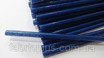 Клей для термопистолета с блестками синий 7 мм х 190 мм