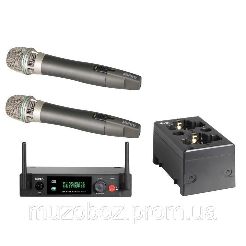Комплект радиомикрофонов Mipro ACT-2402/2*ACT-24HC/MP-80