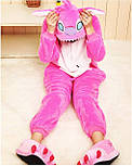 (130, 140 см) Детский кигуруми розовый стич v122, фото 2