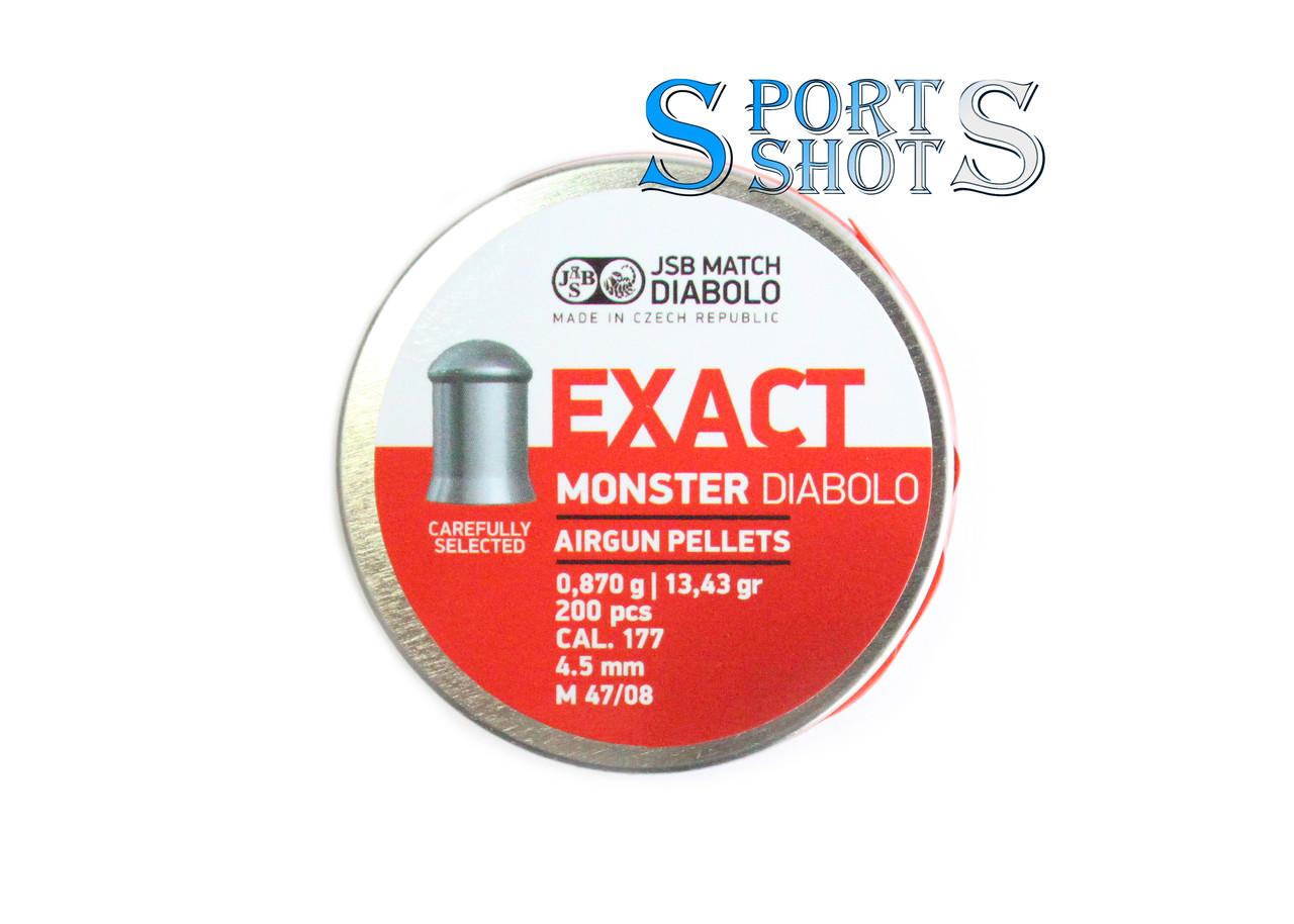 Пули JSB Exact Monster 4.52мм, 0.87г, 200шт