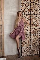 Платье женское летнее (беж, карамель, фреза, голубой, черный)