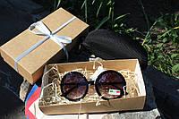 Солнцезащитные очки черные круглые женские