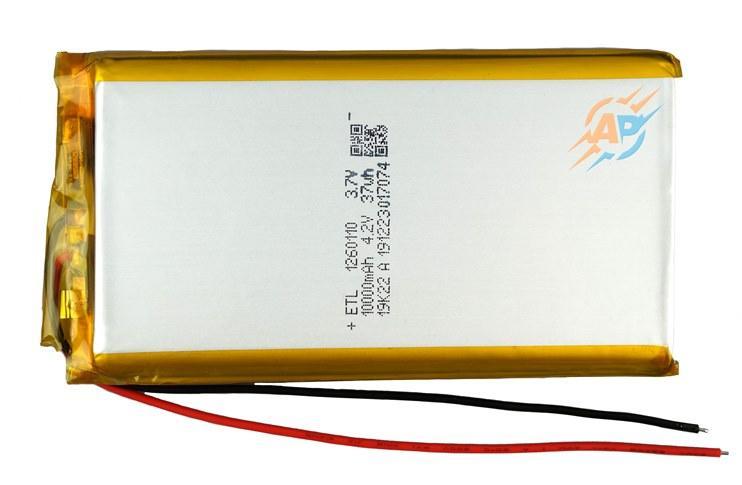 Аккумулятор литий-полимерный 10000mAh, 3.7v, 1260110