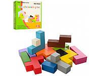 """Дерев'яна іграшка A-Toys """"Головоломка-блоки"""" (MD2042)"""