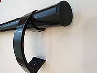Ручка дверная офисная прямая 1000 мм черная