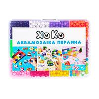 Детский набор Аквамозаика XoKo Жемчужина 1600+аксессуары