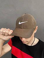 Кепка Nike мужская | женская найк хаки белое лого