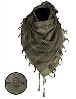 Арафатка-шемаг Mil-tec ВДВ черно-оливковая 110*110см 100% хлопок