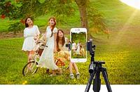 Телескопічний штатив-тринога для камери і телефону Yunteng VCT-5208