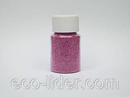 Темно-рожеві бульонки для декору нігтів і створення слаймов