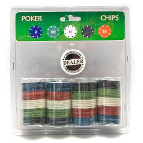 Покерні фішки Viktoria trading 100 Фішок (19Х20Х4 см) 26721