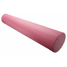 Массажный ролик для фитнеса и аэробики Power System Fitness Roller 90х15 PS-4075 Pink