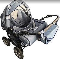 Детская коляска трансформер для двойни Trans baby Taurus Duo Джинс