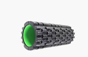 Массажный ролик Power System Fitness Foam Roller PS-4050 Черно-зеленый