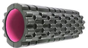 Массажный ролик Power System Fitness Foam Roller PS-4050 Черно-розовый