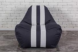 Бескаркасное серое кресло мешок диван Ferrari, Феррари
