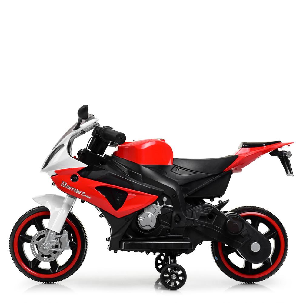 Детский мотоцикл на 2 моторах 25W подсветка колес BMW Bambi M 4103-1-3