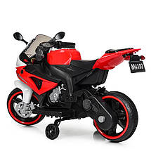 Детский мотоцикл на 2 моторах 25W подсветка колес BMW Bambi M 4103-1-3, фото 2