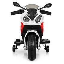 Детский мотоцикл на 2 моторах 25W подсветка колес BMW Bambi M 4103-1-3, фото 3