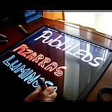 Доска флуоресцентная FLUORECENT BOARD WITH STAND 50*70 на стойке c фломастером и салфеткой, фото 5