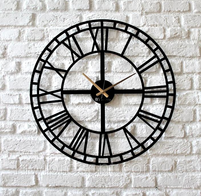 """Стильные настенные часы  """"Век"""" (50 см). Классические часы на стену в современном формате."""